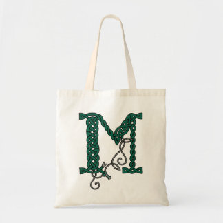 ケルト族の手紙Mのバッグ トートバッグ