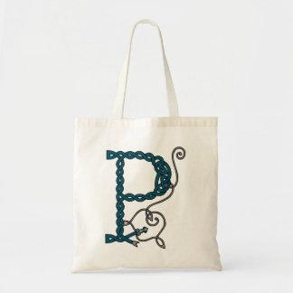 ケルト族の手紙Pのバッグ トートバッグ