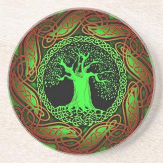 ケルト族の木(照らされた版) コースター