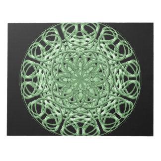 ケルト族の渦巻の曼荼羅 ノートパッド