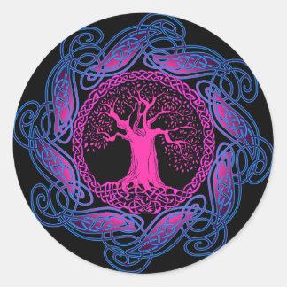 ケルト族の知恵の木(紫外版) ラウンドシール