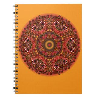 ケルト族の秋の妖精の曼荼羅 ノートブック
