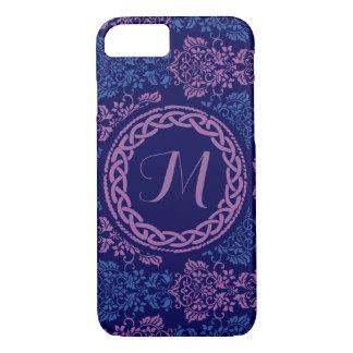 ケルト族の花のモノグラムのな電話箱 iPhone 7ケース