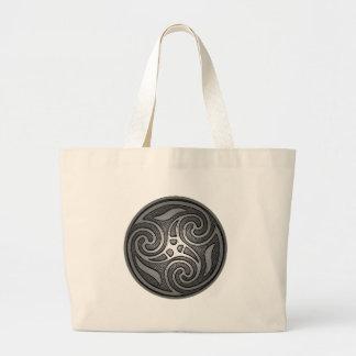 ケルト族の螺線形 ラージトートバッグ