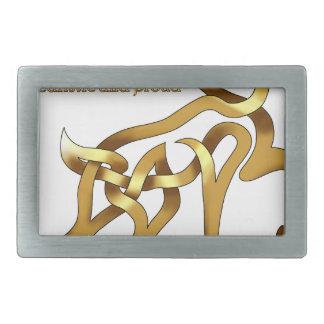 ケルト族の雄鹿 長方形ベルトバックル