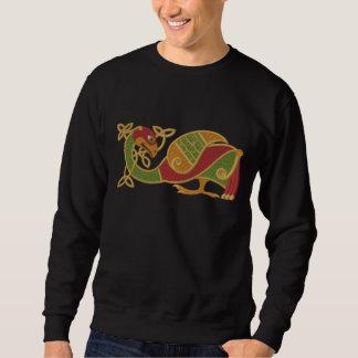 ケルト族の鳥 刺繍入りスウェットシャツ