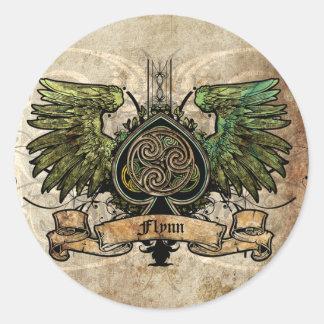 ケルト結び目模様のアイルランドのアイルランドの入れ墨の都市ステッカー ラウンドシール