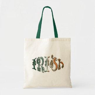 ケルト結び目模様のアイルランドの旗色デザイナーバッグ トートバッグ