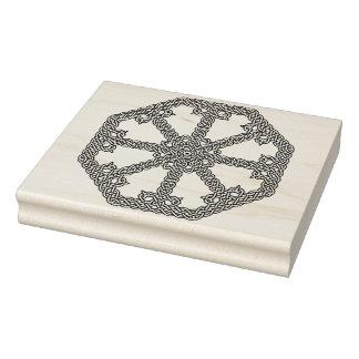 ケルト結び目模様の八角形パターン芸術のスタンプ ラバースタンプ