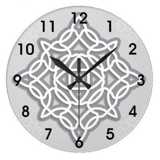 ケルト結び目模様の時計 ラージ壁時計