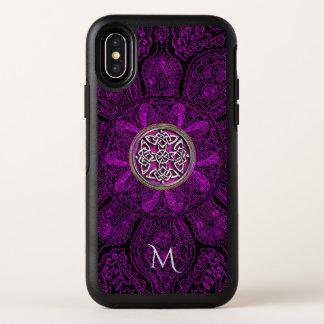 ケルト結び目模様の曼荼羅のモノグラムのオッターボックスのiPhone X