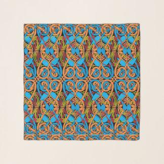 ケルト結び目模様動物のLindisfarneパターン スカーフ