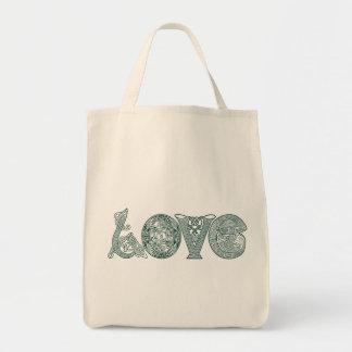 ケルト結び目模様愛、セントパトリックの日、アイルランドの手紙 トートバッグ
