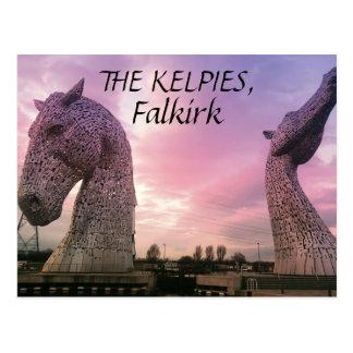 ケルピーの郵便はがき、高い馬ヘッドの彫刻 ポストカード