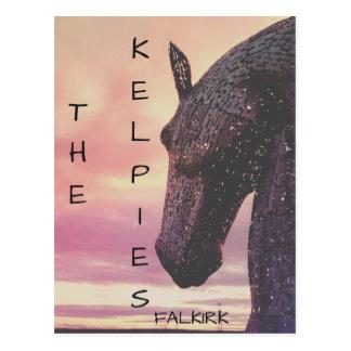 ケルピー郵便はがき、螺旋形公園、Falkirk、Scotlan ポストカード