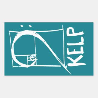 ケルプのステッカー 長方形シール