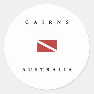 ケルンのオーストラリアのスキューバ飛び込みの旗 ラウンドシール