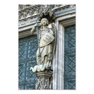 ケルンのカテドラルの彫像 フォトプリント