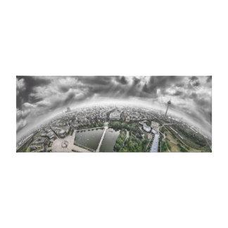 ケルンのパノラマ- 360度! キャンバスプリント