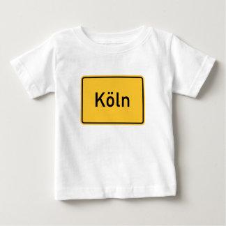 ケルン、ドイツの交通標識 ベビーTシャツ
