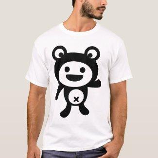 ケロっ子 ブラック - Kerokko Black Version - Frog Tシャツ