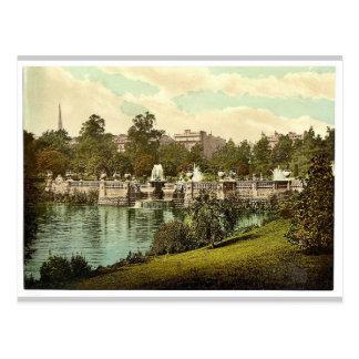 ケンジントンは、噴水、ロンドン、イギリス庭いじりをします ポストカード