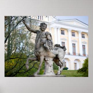 ケンタウルスの彫像の眺め ポスター