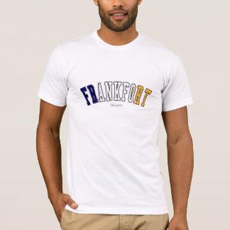 ケンタッキーの州の旗色のフランクフォート Tシャツ