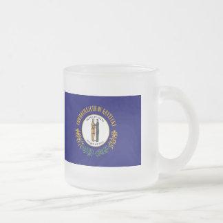 ケンタッキーの州の旗 フロストグラスマグカップ