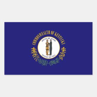 ケンタッキーの州の旗 長方形シール