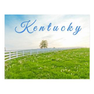 ケンタッキーの郵便はがき。 春の田舎景色 ポストカード