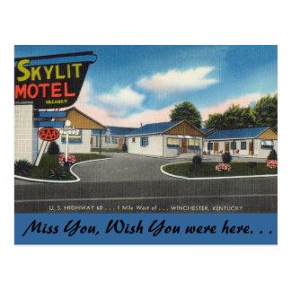 ケンタッキーのSkylitのモーテル、ウィンチェスター ポストカード