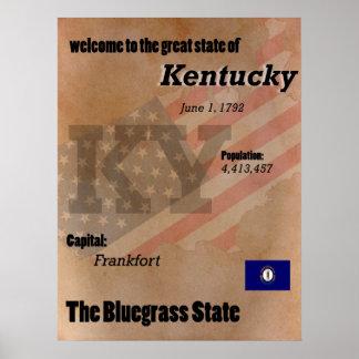 ケンタッキーBluegrassの州のクラシック ポスター