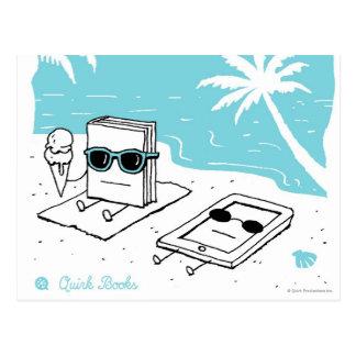 ケンドール及びPaige -ビーチ ポストカード