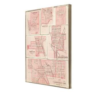 ケンブリッジ都市、ニューポートを持つウェインCoの計画 キャンバスプリント