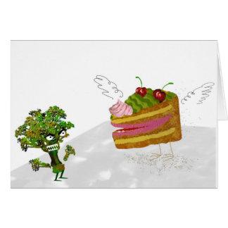 ケーキおよびブロッコリー カード