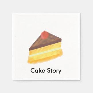 ケーキのデザインのナプキン スタンダードカクテルナプキン