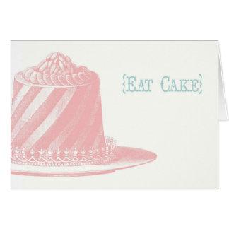 ケーキのバースデー・カードを食べて下さい カード