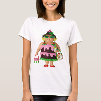ケーキの女性 Tシャツ