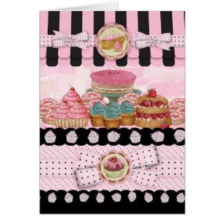 ケーキの店の誕生日の挨拶状 グリーティングカード