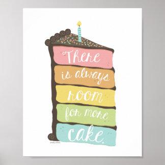 ケーキの芸術のプリントのための常に部屋 ポスター