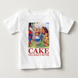 ケーキはそれをよりよくさせます ベビーTシャツ