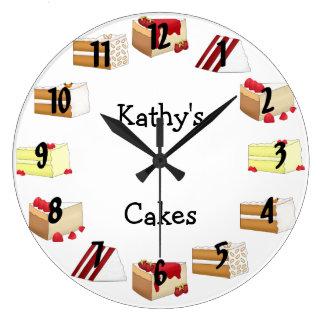 ケーキ ラージ壁時計