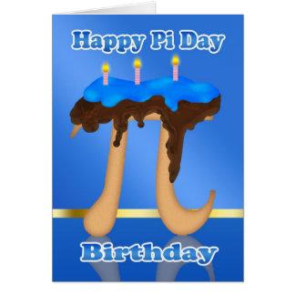 ケーキPi日3.14 3月14日の誕生日 カード