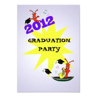 ケージャンのテーマの卒業の2012年のパーティの招待状 12.7 X 17.8 インビテーションカード