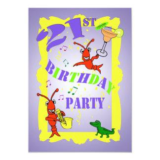 ケージャンのテーマの第21誕生日のパーティの招待状 カード