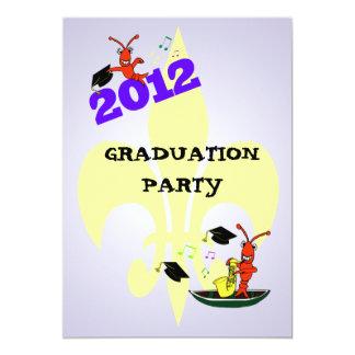ケージャンのCrawfishの(紋章の)フラ・ダ・リの卒業パーティー2012年 カード