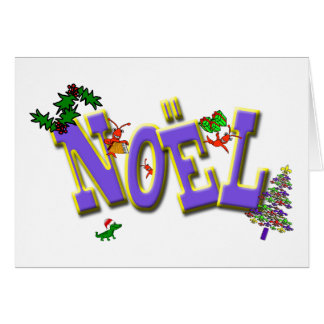 ケージャンのCrawfishの(紋章の)フラ・ダ・リのNoelのクリスマス カード