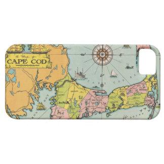 ケープコッドのヴィンテージの地図 iPhone SE/5/5s ケース