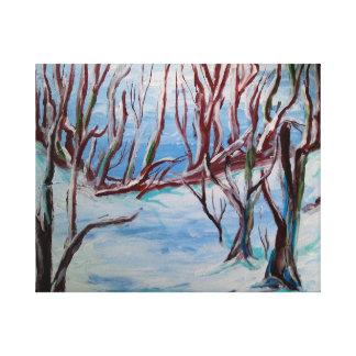 ケープコッドの冬 キャンバスプリント